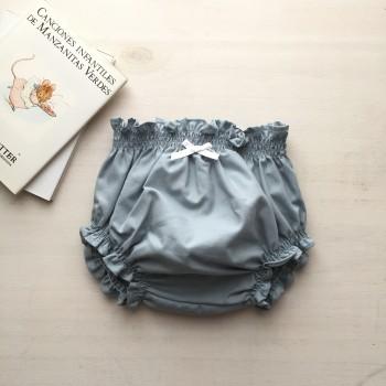 Braguita cubrepañal azul antique