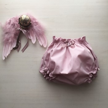 braguita cubrepañal rosa empolvado