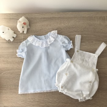 Baby shirt soft blue