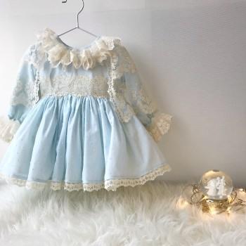 Baby Dress Limoges Celeste