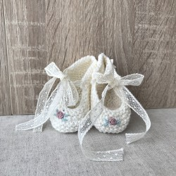 Hand embroidered Booties