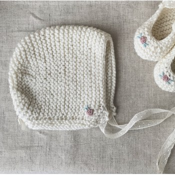 Baby Bonnet Hand Embroidered