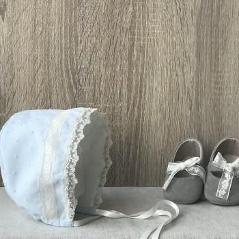 Baby Bonnet Antique Celeste