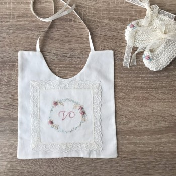 Baby Bib with Initial