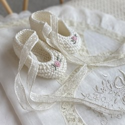 Hand Embroidered Booties...